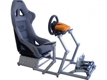 O Studio Getreze em pareceria com a Promotreze desenvolveu uma estrutura em alumínio anodizado  totalmente articulada para simuladores de corrida ou aviação