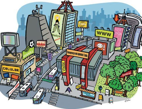 Ilustração Cidade Poluída