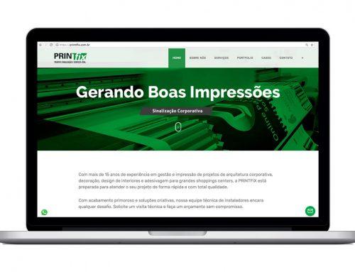 Criação de site – Printifix.com.br