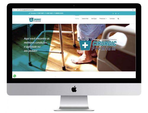 Criação de site para produtos hospitalares