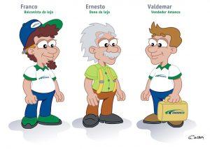 Ilustração personagens