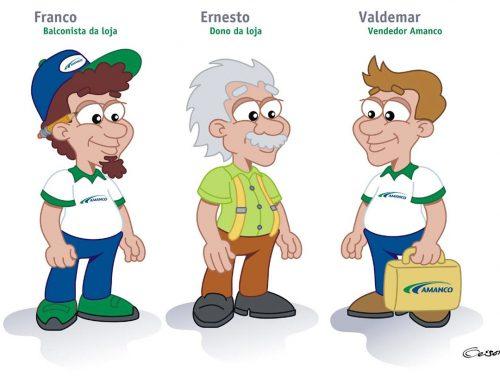 Ilustração personagens – Amanco