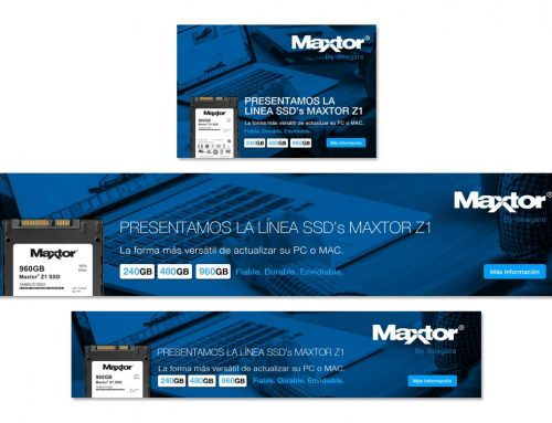 Criação de web banner – Maxtor Seagate