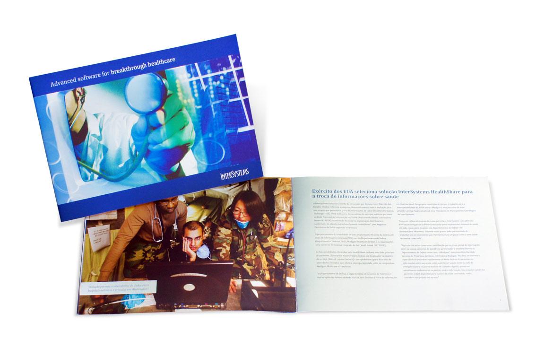 Criação de folder para empresa de tecnologia
