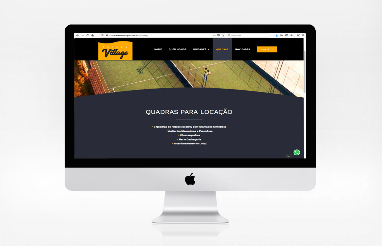 Criação de site para Salão de Festa