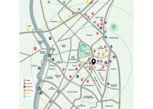 ilustração mapa para lançamento imobiliário